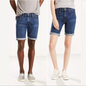 Levi's 505 rainbow denim Bermuda unisex shorts